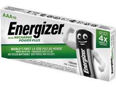 Energizer Oplaadbare Power Plus AAA / NH12 Batterijen, 700 mAh (pak 10 stuks)