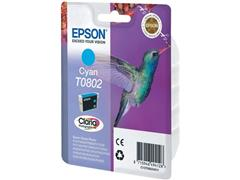 Epson T0802 Toner, single pack, cyaan