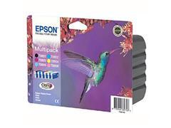 Epson T0807 Inktcartridge, Multipack, Kleur (pak 6 stuks)