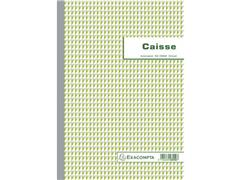 Exacompta Caisse Kasboek A4, Frans, 50 vel, Groen (pak 5 stuks)