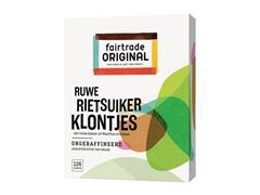 FAIR TRADE ORIGINAL Suikerklontjes, Rietsuiker, Ongeraffineerd (pak 500 gram)