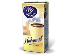 FRIESCHE VLAG Koffiemelk Halvamel, Halfvol, 1L per pak (doos 6 x 929 milliliter)