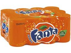 Fanta Fanta orange frisdrank blikje 150 ml (pak 24 x 15 centiliter)