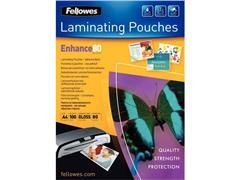 Fellowes Lamineerhoes A3, Zelfklevend, 303 x 426 mm, 2 x 80 micron, Glanzend (pak 100 stuks)