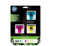 HP 363 Inktcartridge, Kleur (pak 3 stuks)