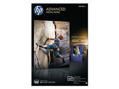 HP Advanced Fotopapier voor Inkjet 100 x 150 mm 250 g/m² Wit Glanzend 60 vel (pak 60 vel)