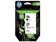 HP Inktcartridge HP 56 / 57 2 Pack SA342AE zwart, drie kleuren (pak 2 stuks)