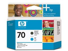 HP Printkop 70 Single Pack C9404A cyaan, mat zwart