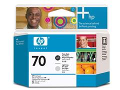 HP Printkop 70 Single Pack C9407A fotozwart, licht grijs