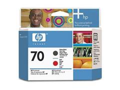 HP Printkop 70 Single Pack C9409A mat zwart, rood