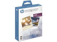 HP Social Media Snapshots - soft gloss removable self-adhesive photo paper - 25 vel(len) (pak 25 vel)