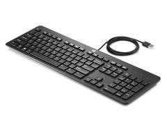 HP USB Business Slim Toetsenbord, Bekabeld, QWERTY, Zwart