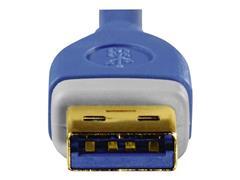 Hama USB 3.0 Kabel, 1,8 m, Blauw