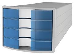 Han Impuls Ladekast met 4 laden, 240 x 325 x 37 mm, blauw