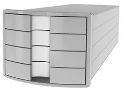Han Impuls Ladekast met 4 laden, 240 x 325 x 37 mm, lichtgrijs