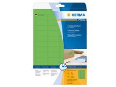 Herma Verwijderbaar gekleurd papieretiket, 45,7 x 21,2 mm, 20 vellen, 48 etiketten per A4-vel, groen (pak 960 stuks)