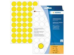 Herma Markeer punten diameter 19 mm rond geel (pak 1280 stuks)