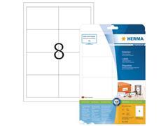 Herma Premium permanent papieretiket, 97 x 67,7 mm, rechte hoek, wit (pak 200 stuks)