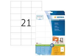 Herma Premium permanent papieretiket, 70 x 42,3 mm, rechte hoek, wit (pak 525 stuks)