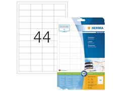 Herma Premium permanent papieretiket, 48,3 x 25,4 mm, rechte hoek, wit (pak 1100 stuks)