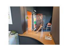 Jalema Transparant Baliescherm, Acryl, 750 x 800 mm