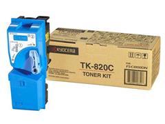 KYOCERA TK 820 Toner, Single Pack, Cyaan