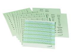 Legamaster Set datumstrips, accessoireset, navulling planner nummer 3, blauw, groen