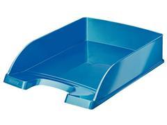 Leitz WOW Brievenbak, Polystyreen, 255 x 70 x 357 mm, Metallic Blauw