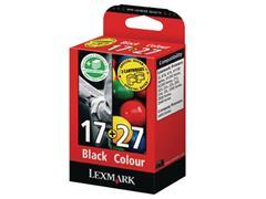 Lexmark Nr. 17/27 Inktcartridge, Zwart, Cyaan, Geel, Magenta (pak 2 stuks)