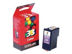 Lexmark Nr. 33 Inktcartridge, Cyaan, Geel, Magenta
