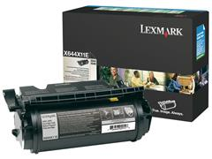 Lexmark X644 Toner, Single Pack, Zwart
