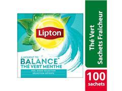 Lipton Feel Good Selection Groene Thee met Munt (pak 100 stuks)