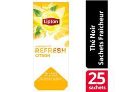 Lipton Feel Good Selection Zwarte Thee met Citroen (doos 6 x 25 pakken)