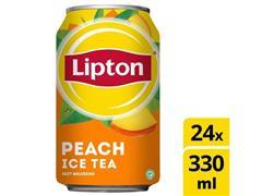 Lipton Peach Ice Tea, Frisdrank, Koolzuurvrij, Blik (pak 24 x 330 milliliter)