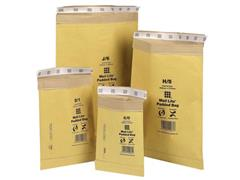 Mail Lite® Padded Enveloppen D/1, 181 x 273 mm, Goud (doos 100 stuks)