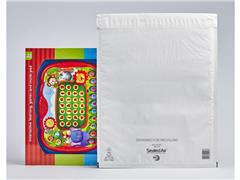 Mail Lite Tuff® Tuff K7 Luchtkussenenvelop, 470 x 350 mm, Polyetheleen, Wit (doos 50 stuks)