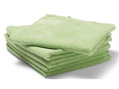 Staples Microvezeldoek, 250 g/m², 35 x 38 cm, 5x groen<BR> (pak 5 stuks)