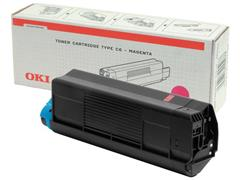 OKI C5100M Toner, Single Pack, Magenta