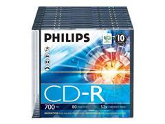 Philips Philips - CD-R x 10 - 700 MB - opslagmedia (pak 10 stuks)
