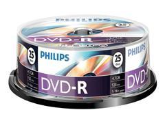 Philips DM4S6B25F DVD-R, 4.7 GB, Spindle (pak 25 stuks)