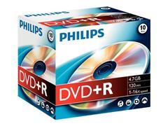 Philips DR4S6J10C DVD+R, 4.7 GB, Jewelcase (pak 10 stuks)