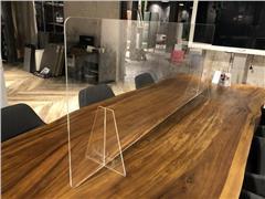 Plexio Transparant Baliescherm, Plexiglas, 1600 x 650 mm