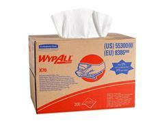 Wypall* X70 Poetsdoek, 1-Laags, Wit, Draagdoos à 200 doeken (pak 200 vel)