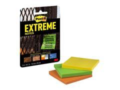 Post-it® Extreme Notes, 76 x 76 mm, Groen, geel en oranje (blister 3 stuks)