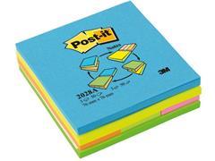 Post-it® Zelfklevend Notitieblok (76 x 76 mm) en Bladwijzers (25 x 76 mm), Assorti (blok 300 vel)