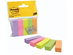 Post-it® Pagemarker 15 x 50 mm, 5 blokjes per pak, gesorteerde neonkleuren (pak 5 blokken)