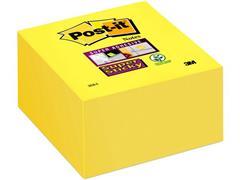 Post-it® Super Sticky Zelfklevend Notitieblok, 76 x 76 mm, Geel (blok 350 vel) (SC 9002028)