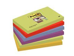 Post-it® Super Sticky Notes Marrakesh kleuren, 76 x 127 mm (pak 6 blokken)