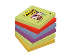 Post-it® Super Sticky Zelfklevend Notitieblok, 76 x 76 mm, Marrakesh Kleuren (pak 6 blokken)