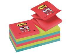 Post-it® Super Sticky Z-Notes Bora Bora kleuren, 76 x 76 mm (pak 12 blokken)